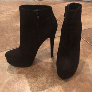 Chinese laundry suede ankle bootie